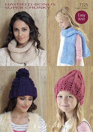 Children Scarves Hats Gloves Knitting Patterns