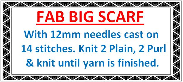 Fab Big Scarf Pattern