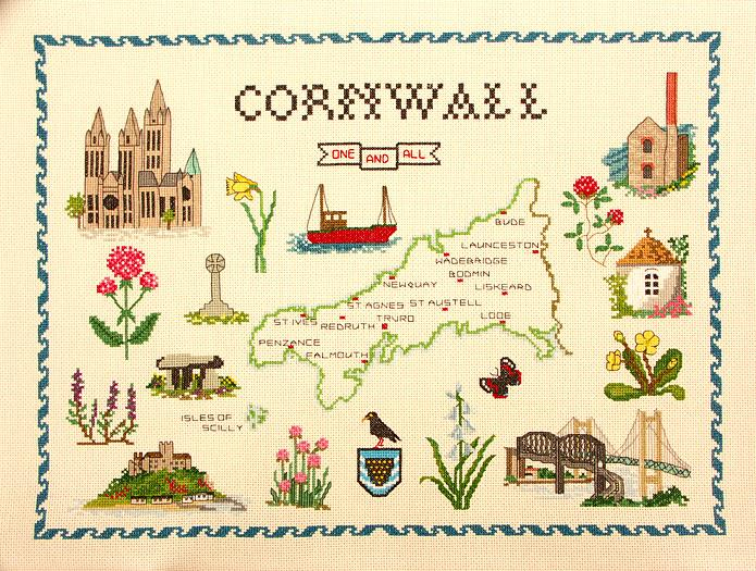Map of Cornwall Sampler